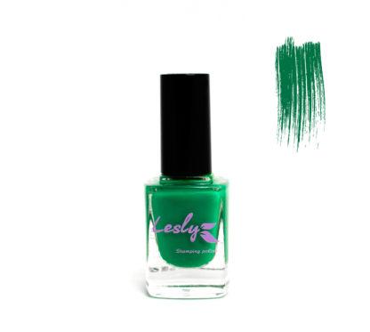 Лак для стемпинга Lesly Forest Green зеленый